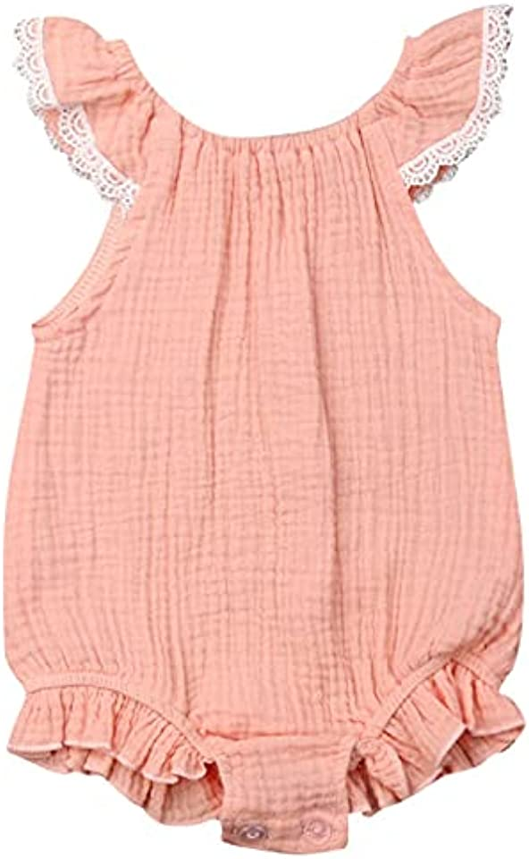 Baby Girl Ruffle and Lace Summer Romper