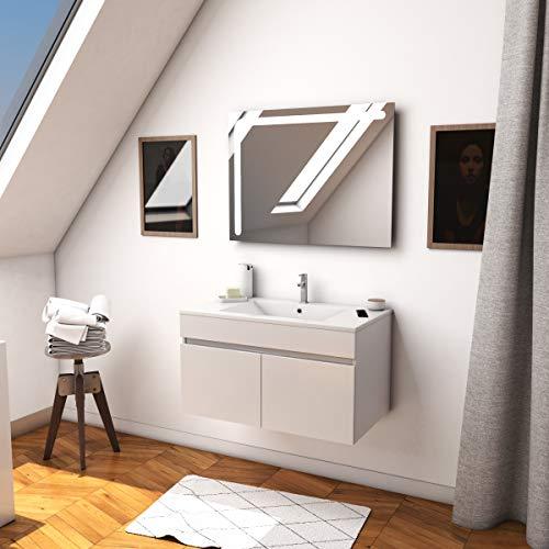 Aurlane LAV858 - Juego de muebles de cocina, color blanco