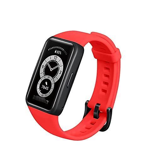 AFAY Correa De Reloj Compatible con la Banda de Honor 6 Strap Wheam Wamkband Compatible con Huawei Honor Band 6 Mujeres Hombres Pulsera Pulsera Fitness Loop Smart Watch Correa de muñeca Nylon