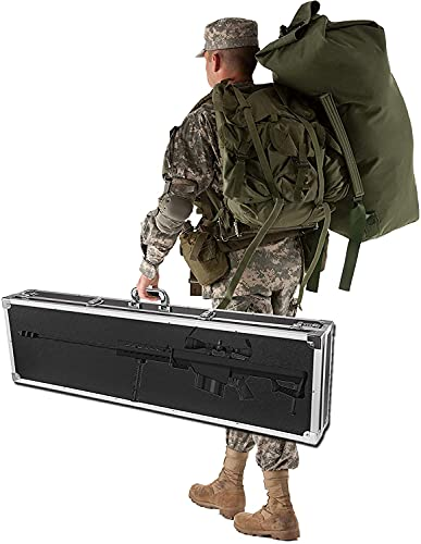 WSVULLD Bloqueo de la caja de la pistola, el rifle de aire de la caja con el panel ignífugo, la cerradura del núcleo de cobre y el bloqueo de la contraseña, fortalecen la manija del cojinete de carga,