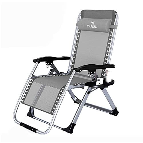 DXZ-Design Sillas reclinables Plegables para Patio con reposacabezas Ajustable Silla para Muebles Extensible de Metal para Exteriores Sillas de salón de Gravedad Cero
