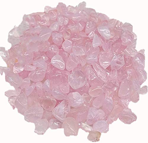 E-Uli Pink Stones Glass Crushed Stone Crystal Jewelry Making Home Decoration (Rose Pink 480g)