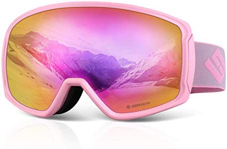 SH HORVATH Ski Snowboard OTG Goggles HD Mirrored Anti Fog Goggle for Men Women product image