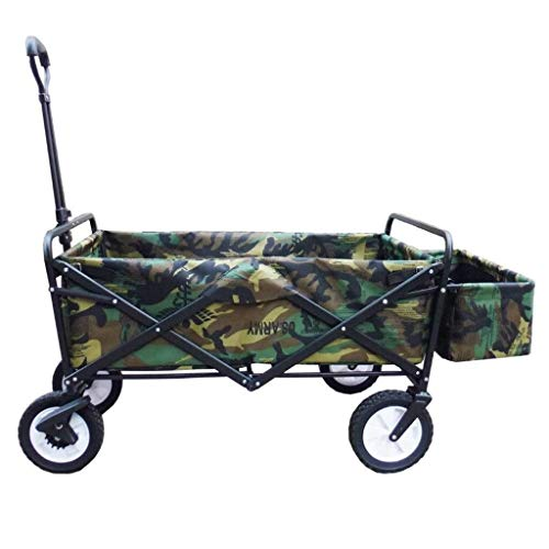 SOAR Faltbarer Bollerwagen Garten Wagen 4-Rad Trolley Folding - Faltbare Pull Wagon Bollerwagen-Camping Wagen Tragbare Garten und DIY Wagen - 80KG Capacityy