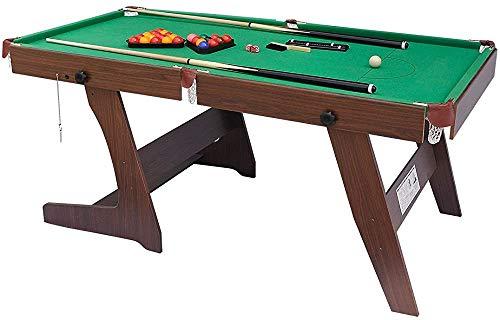 Plegables mesas de billar mesa de billar y bolas y otros accesorios colocados en una mesa de billar estables,Brown Green