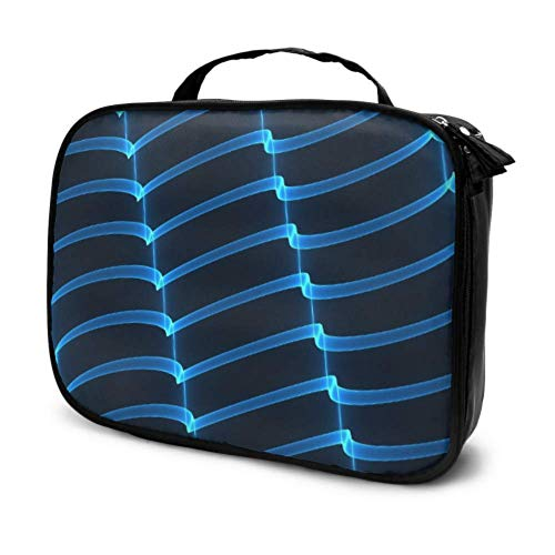Light Glow Blue Creative Abstract Travel Portable Makeup Bag Trousse de Toilette Travel Cosmetic Bag for Men Multifunction Printed Pouch for Women