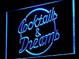 ADVPRO Insegna al Neon j098-b Cocktails & Dreams Bar Beer Wine Pub Light Sign...