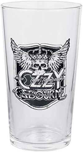 Ozzy Osbourne Crest Unisexe Verre /à pinte transparent 0,5 L Verre