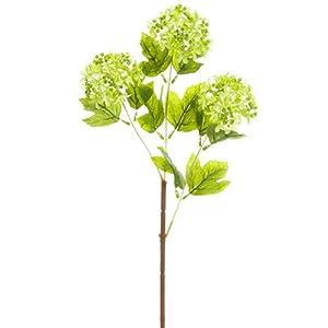 24.5″ Silk Snowball Flower Spray -Green (Pack of 12)