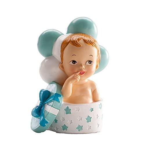 Dekora Figura Bautizo BEBÉ Regalo Y Globos Azul