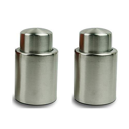 PEAR Vakuumverschluss für Weinflaschen, wiederverwendbar, Vakuumverschluss, hält Wein frisch, perfektes Geschenk für Weinliebhaber (2 Stück)