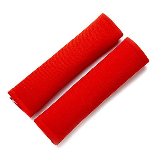 Morechioce - Juego de 2 almohadillas para cinturón de seguridad de coche para niños, fundas universales para cinturón de seguridad de coche, fundas protectoras para cinturón de seguridad, color rojo
