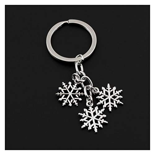 Hjdmcwd Keychain 1Pc Schöne Weihnachten Schneeflocke Keychain Snow Flake Schlüssel Kette Ring Geldbörse Anhänger Für Klassische Lovers Geschenk