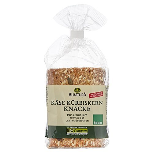 Alnatura Bio Käse-Kürbiskern-Knäcke, 5er Pack (5 x 200 g)