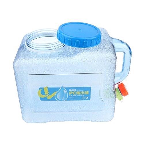 Baoblaze Tragbarer Kunststoff Wasserkanister leicht Wasserbehälter mit Wasserhahn - 5L