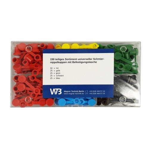 150 teiliges WTB® Schmiernippelkappensortiment für alle Schmiernippel egal ob M6, M8, M10 usw.