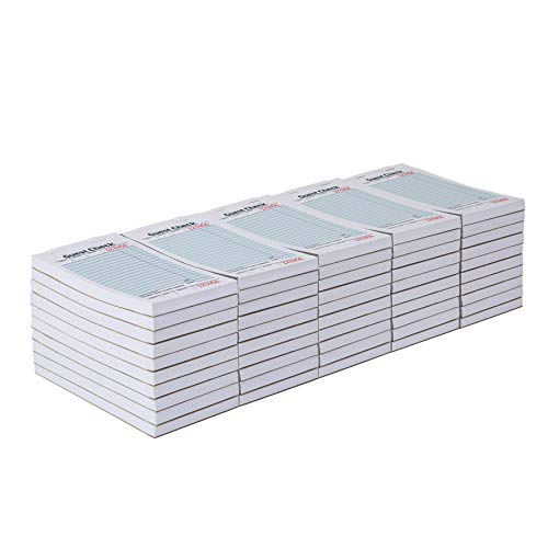 AmazonCommercial Guest Check Pads, Single Part, Perforated Guest Receipt, 3-2/5