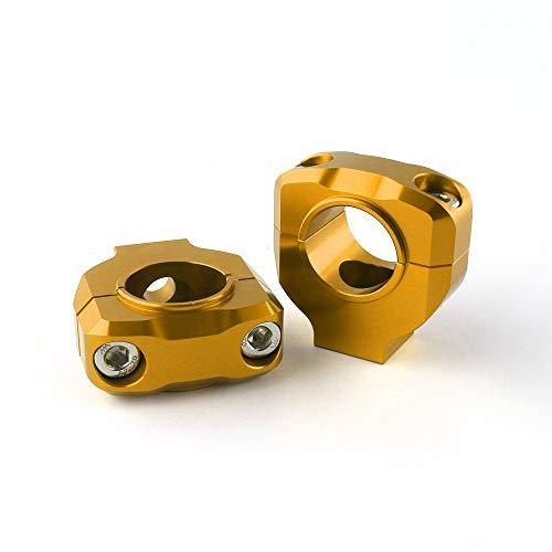LLZER Agujero de Tornillo de Aluminio de la Motocicleta 28 mm 1-1/8 '' Pulgada Manillar elevadores manija de Grasa Monte la Abrazadera/Ajuste para Carreras y Scooter (Color : Gold)