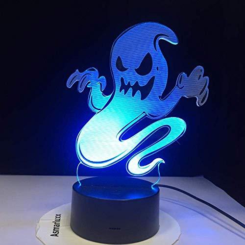 Lámpara de ilusión 3D, luz de noche LED, fantasma, humo, cambio de acrílico con holograma, el mejor regalo de cumpleaños para niños