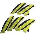 HAIK Tail Fin Tabla de Surf Tablas de Surf 5pcs Aletas FCS2 Base Tabla de Surf Propulsores de Paddle Board Tabla de Surf Accesorios Almacenamiento de Kayak (Color : Yellow, Size : M)