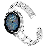 Goton Jewelry Band Compatible for Galaxy Watch Active 2 Band , Active Band , Women Fashion Bling Crystal Diamond Wristband Strap Compatible for Samsung Galaxy Watch Band 42mm 40mm 44mm (Silver, 20mm)