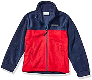 Columbia Little Boy's Steens Mt II Fleece Outerwear Mountain red/Collegiate Navy X-Small