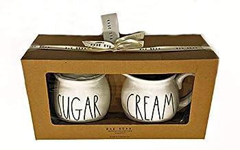 Rae Dunn by Magenta Ceramic Sugar and Cream Boxed Gift Set