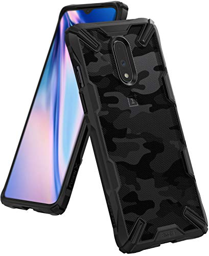 """Ringke Fusion-X Designed for OnePlus 7 Case Impact Resistant Protection Cover for OnePlus 7 (6.4"""") - Camo Black"""