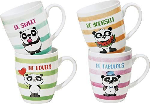 Erwin Müller Kaffeebecher 4er-Pack Panda