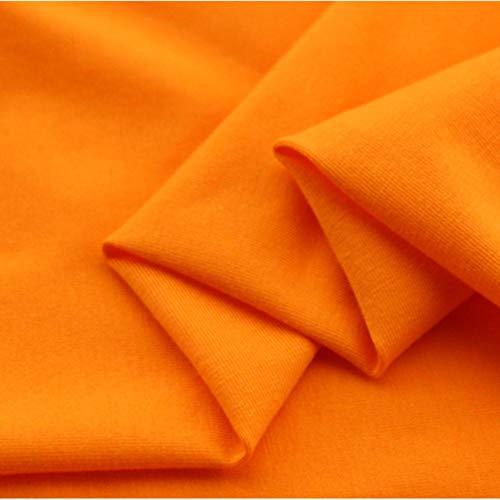 Zzxx Katoen gebreid t-shirt stof zomer katoen legging strak passend hoge elastische pure kleur doek