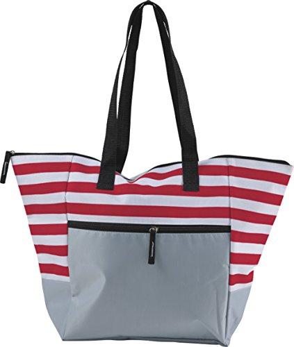 Strandtasche mit Reißverschluss Groß Badetasche XXL für z.b Familie Beachbag (Rot)