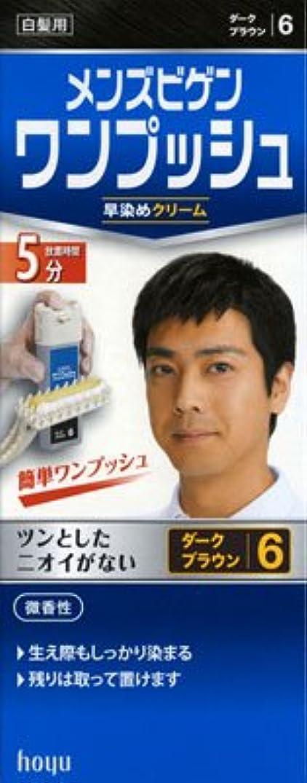 安価な召集する簡略化するメンズビゲン ワンプッシュ 6 ダークブラウン × 5個セット