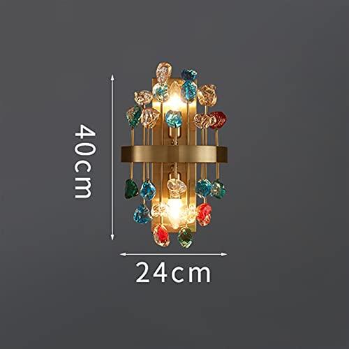 JSJJARF Lampara de pie Lámpara de pie de luz de Cristal Colorido de Lujo de la lámpara de la Mesa de la Sala de Estar de la lámpara de la Mesa de Cama cálida y Creativa