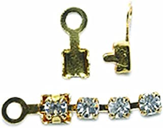 Shipwreck Beads Brass End Finding with Loop, Metallic, Gold, 150-Pack