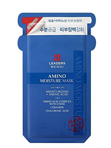 Leaders Mediu Amino Moisture Mask Packs Facial Skin Care Moisturizing 10 Sheets