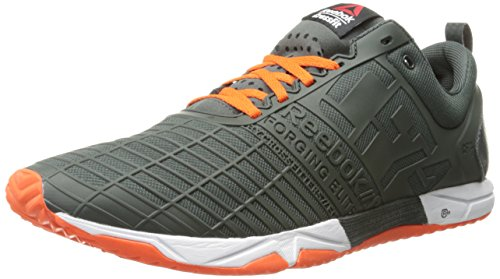 Reebok Men's Crossfit Sprint tr-m, Dark Sage/Flux Orange/White, 11.5 M US