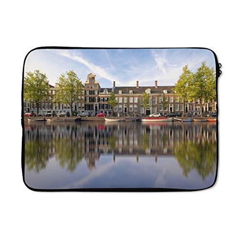 Laptophoes 14 inch 36x26 cm - Prinsengracht - Macbook & Laptop sleeve Prinsengracht in het centrum van Amsterdam - Laptop hoes met foto