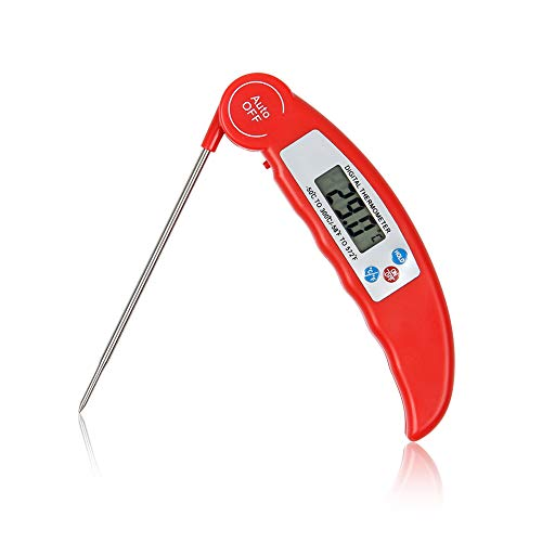 ZivKit Instant Read Meat Thermometer-Best Ultra Fast Thermometer with Calibration.ZivKit Digital Food Thermometer for Kitchen,Food Cooking, Grill,BBQ,Smoker,Home Brewing,Coffee,and Oil Deep Frying