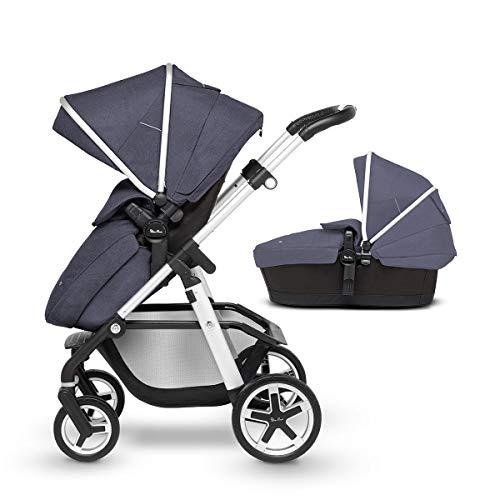 Silver Cross Pioneer - Cochecito de bebé 2 en 1 totalmente ajustable y silla de paseo, desde el...