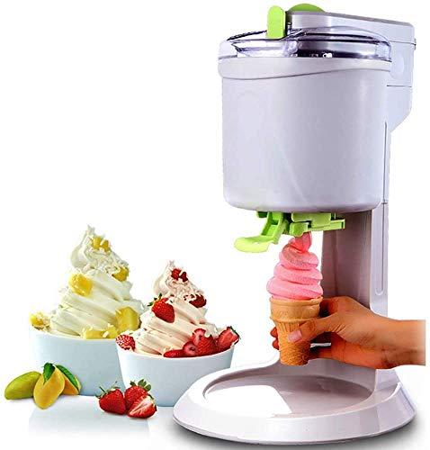 HUIJ Fashion Household Kleine Eismaschine,1L Hochleistungs-DIY-Eismaschine,schnell,einfach zu reinigen,glatt,geeignet für die Herstellung Einer Vielzahl von EIS