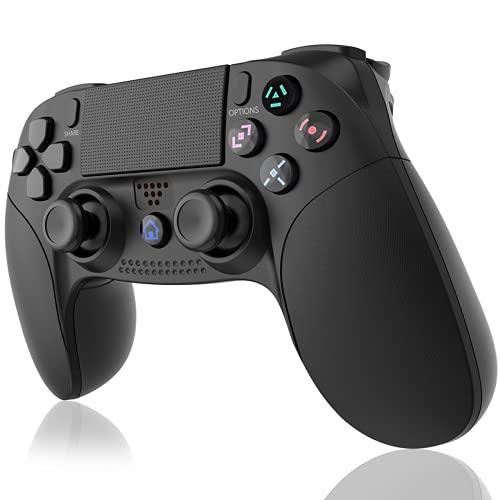 GEEMEE Controller Wireless per PS4, Joystick Controller Touch Panel con Doppia Vibrazione a Sei Assi e Audio,Bluetooth Senza Fili Joystick Gamepad Gaming Controller