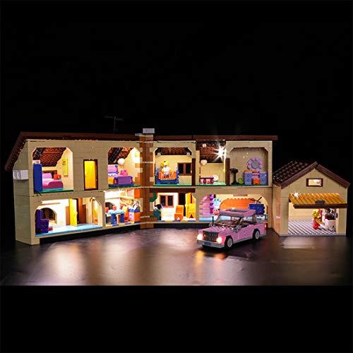 TETAKE Licht Beleuchtung LED Beleuchtungsset für Lego Simpsons Haus 71006 (Nicht Enthalten Lego Modell)