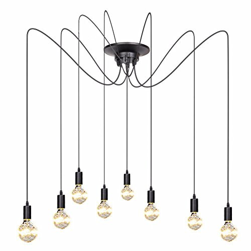 8 kroonluchters creatieve industriële wind plafondlamp spin vintage plafondlamp loft lamp woonkamer restaurant kledingwinkel kantoor lange plafond kroonluchter