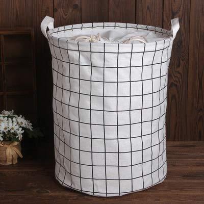 Panier à linge 1 pièce de coton et lin avec housse seau à poussière sale pour vêtements panier de rangement de jouets poubelle panier de rangement de débris