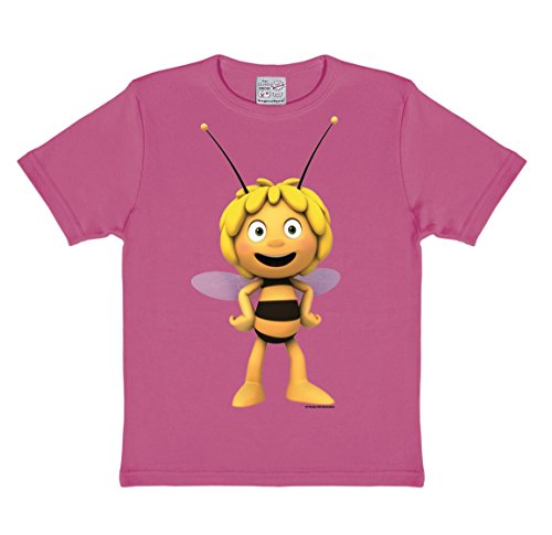 Logoshirt Biene Maja 3D T-Shirt Kinder Mädchen - Pink - Lizenziertes Originaldesign, Größe 92/98, 2-3 Jahre