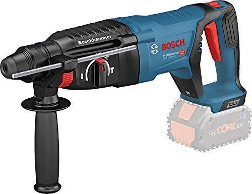Bosch Professional 18V System Bohrhammer GBH 18V-26 D (ohne Akku, max. Schlagenergie: 2,5 J, Wechselfutter SDS Plus, im Koffer)