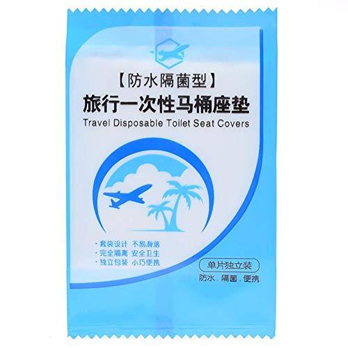 LAIYYI 5 STKS Wegwerp Plastic Toilet Stoelhoezen Mat, Individueel Verpakt Draagbare Waterdichte Veiligheid Reisbenodigdheden voor Openbaar Toilet