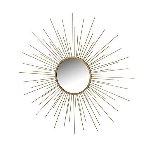 Espejo Sol Dorado de Metal y Cristal de 80x80 cm - LOLAhome