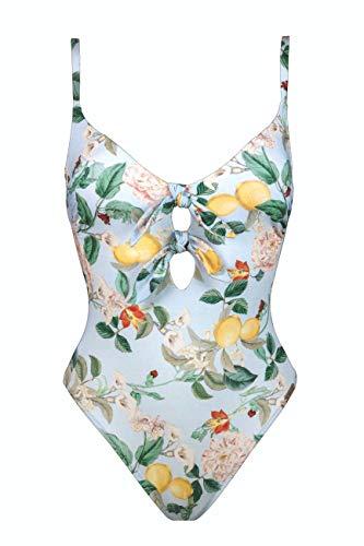 Watercult Badeanzug mit Doppelschleife (Lemon Blossom, 38D)