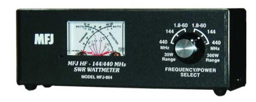 MFJ-864 SWR Meter, 1.8-60/144/440MHz, 30/300W. Buy it now for 124.24